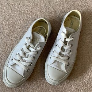 White leather Converse All Star unisex men's 3.5